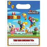 Super Mario Brothers Party Bags - Plastic Loot Bags