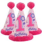 Sweet Girl 1st Birthday Faux Fur Cone Hat
