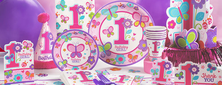 Sweet Girl 1st Birthday Party Supplies Party Delights