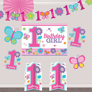 Sweet girl 1st birthday party supplies party delights for 1st birthday girl decoration