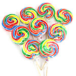 Rainbow Swirl Lollipops - Fruit Flavour