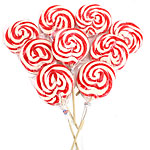 Red & White Swirl Lollipops - Strawberry Flavour
