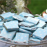 Baby Blue Polka Dot Chocolate Neapolitans - 5g
