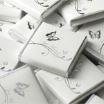 Silver Wedding Butterfly Neopolitan Chocolates- 5g