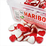 Haribo Heart Throbs Tub - Bulk Sweets