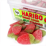 Haribo Sour Jelly Strawbs Tub