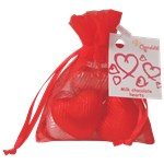 Organza Bag of Chocolate Hearts - 30g