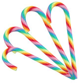 Rainbow Candy Cane £0.49 each (28g / 0.99oz)