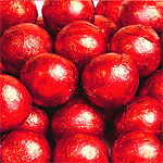 Milk Chocolate Balls - Red - 5g