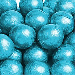 Milk Chocolate Balls - Turquoise - 5g