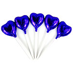 Bulk Pack of Midnight Purple Heart Chocolate Lollipops - 500g
