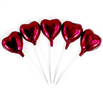 Bulk Pack of Burgundy Heart Chocolate Lollipops - 500g