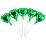 Bulk Pack of Green Heart Chocolate Lollipops - 500g