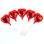 Bulk Pack of Red Heart Chocolate Lollipops - 500g