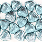 Light Blue Foil Chocolate Hearts
