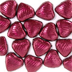 Burgundy Chocolate Hearts