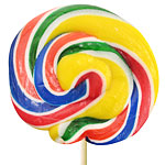 Rainbow Swirl Lollipops - Fruity 10cm