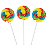 Rainbow Mini Swirl Lollipops - Fruity