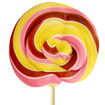 Yellow & Pink Swirl Lollipops - Ice Cream 10cm