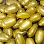 Gold Metallic Sugared Almonds - 1kg