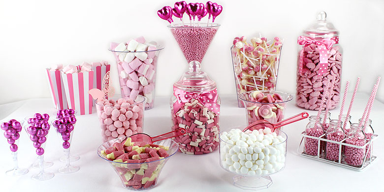 Pink Candy Buffet Party Delights