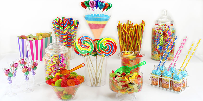 Rainbow Candy Buffet Party Delights