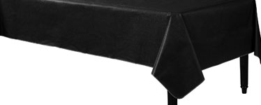 Black Flannel-Backed Vinyl Tablecover - 1.3m x 2.2m