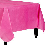 Hot Pink Flannel-Backed Vinyl Tablecover - 1.3m x 2.2m