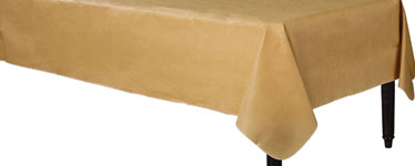 Gold Flannel-Backed Vinyl Tablecover - 1.3m x 2.2m