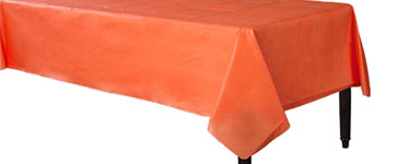 Orange Flannel-backed Vinyl Tablecover - 1.3m x 2.2m