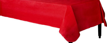 Red Flannel-Backed Vinyl Tablecover - 1.3m x 2.2m
