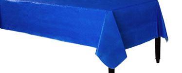 Royal Blue Flannel-Backed Vinyl Tablecover - 1.3m x 2.2m