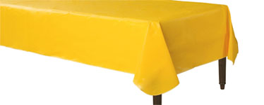 Yellow Flannel-Backed Vinyl Tablecover - 1.3m x 2.2m