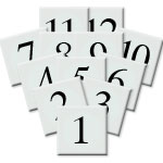 Table Numbers Square 1-12