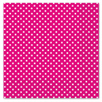 Hot Pink Polka Dot Luncheon Napkins 3ply