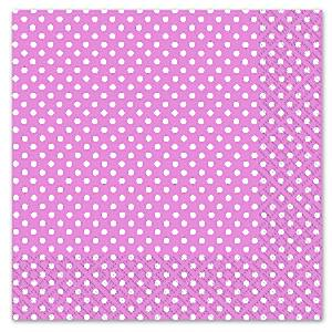 Any Day or Night Pink Polka Dot Luncheon Napkins 3ply