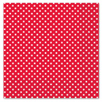 Red Polka Dot Luncheon Napkins - 33cm