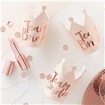 'Team Bride' Rose Gold Foiled Party Crowns