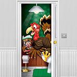 Thanksgiving Turkey Bathroom Door Cover - 1.5m