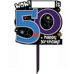 50th Birthday Lawn Sign - Party Decoration