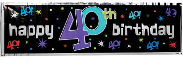 40th Birthday Decorations & Banners - 40th Birthday Party ...