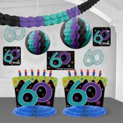60th Birthday Table Decorations Ideas 60th birthday table decoration idea 60th Birthday Decorating Kit