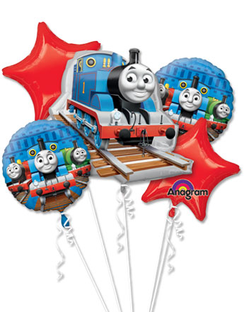 Thomas the Tank Engine Balloon Bouquet - Assorted Foil