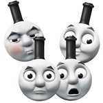 Thomas the Tank Engine Party Masks - Card