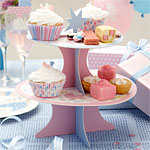 Baby Shower Cup Cake Stand - 2 Tier