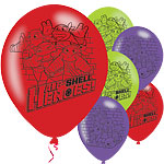 "Half Shell Heroes Balloons - 11"" Latex"