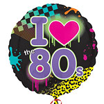 "Totally 80s Round Balloon - 18"" Foil"