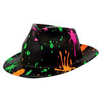 Paint Splatter Fedora Hat