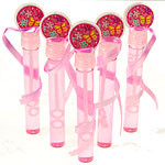Pink Butterfly Bubble Wands