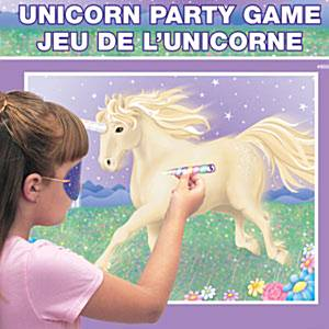 Unicorn Magic Pin the horn on the unicorn game